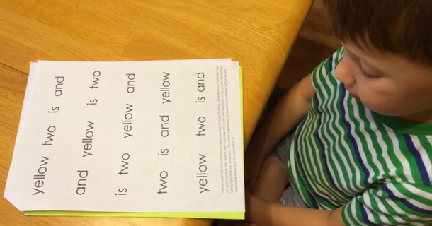 Teacher Gives 5-Year-Old Sight Words To Practice But He Ends Up Reading Parent's Instructions, Too